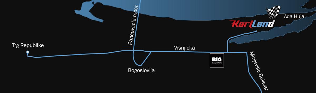 Kartland karting lokacija 10km od centra Beograda